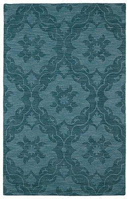 Charlton Home Cotswold Turquoise Solid Aera Rug; Rectangle 8' x 11'