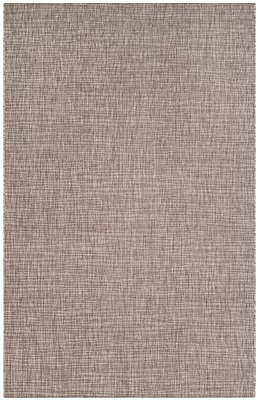 Charlton Home Poole Brown/Beige Indoor/Outdoor Area Rug; Rectangle 5'3'' x 7'7''