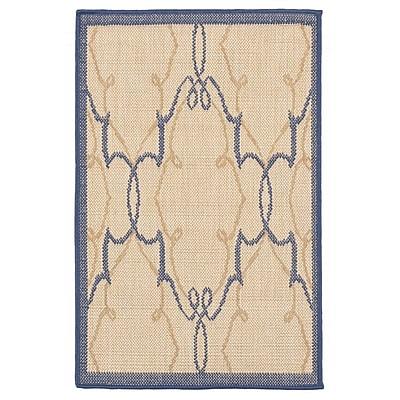 Charlton Home Brasstown Delicate Scroll Beige Indoor/Outdoor Area Rug; Rectangle 3'3'' x 4'11''