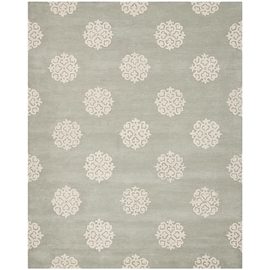 Charlton Home Alvan Wool Gray Area Rug; Rectangle 2' x 3'