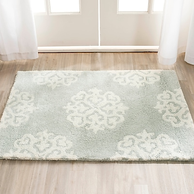 Charlton Home Alvan Wool Gray Area Rug; Rectangle 3'6'' x 5'6''