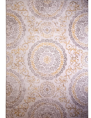 Charlton Home Arend Purple/Gold Area Rug; Rectangle 5'3'' x 7'2''