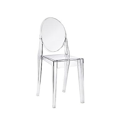 Plata Import Chaise Transparente Sans Accoudoirs Ghost Fini Transparent PC 448