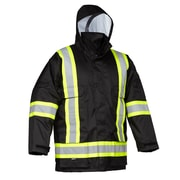 Forcefield Safety Cargo Parka, Black Ripstop,  2XL