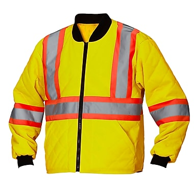 Forcefield Safety Freezer Jacket, Lime, 4XL (024-FJQLY-4X)