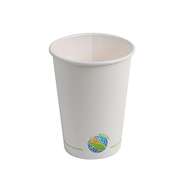 Eco-Packaging - Gobelets compostables pour boissons chaudes, 16 oz (EP-BHPC16)