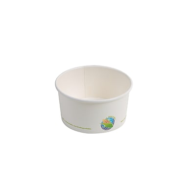 Eco-Packaging Compostable Paper Bowl, 6oz. (EP-BHSC06)