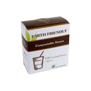 """Eco-Packaging Compostable Cocktail Straw, 8"""", Black (EP-STR775)"""