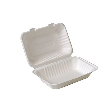 Eco-Packaging Compostable Sugarcane Clamshell, 9