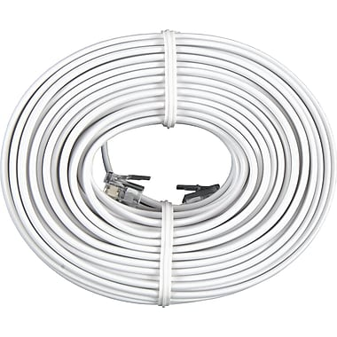 GE 50' Line Cord, White