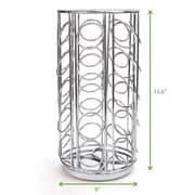 Mind Reader 35 Capacity Rotating Metal K-Cup Carousel, Silver (METCAR35-SIL)