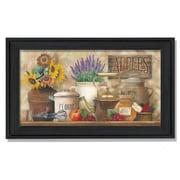 "TrendyDecor4U Antique Kitchen -18""x9"" Framed Print (ED195-405)"