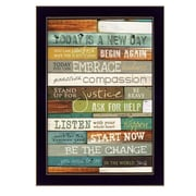 """TrendyDecor4U Today is a New Day -8.5""""x12.25"""" Framed Print (MA852E-712)"""