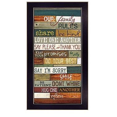 TrendyDecor4U Our Family Rules -9