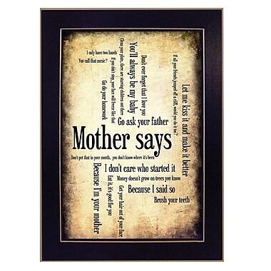 TrendyDecor4U Mother Says -8.5