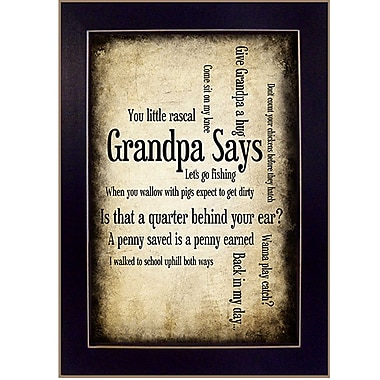 TrendyDecor4U Grandpa Says -8.5