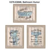 "TrendyDecor4U Bathroom Humor -3-12""x16"" Framed Print (V276-636ML)"