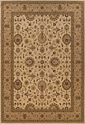 Charlton Home Currahee Ivory/Beige Area Rug; Rectangle 5'3'' x 7'9''