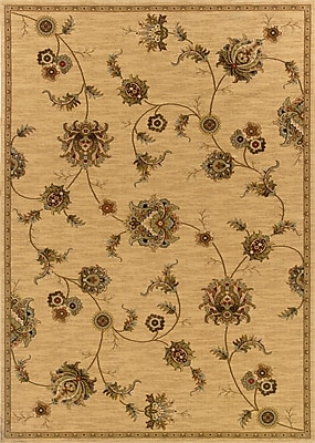 Charlton Home Currahee Beige/Gray Area Rug; Rectangle 5'3'' x 7'9''