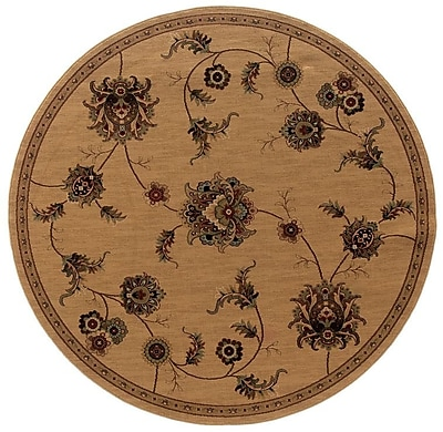 Charlton Home Currahee Beige/Gray Area Rug; Round 7'10''