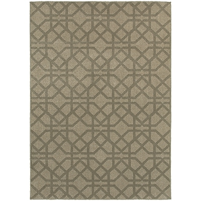 Charlton Home Derby Gray/Beige Area Rug; Rectangle 5'3'' x 7'6''