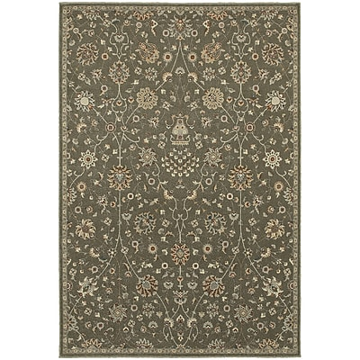 Charlton Home Derrymore Gray Area Rug; Rectangle 3'10'' x 5'5''