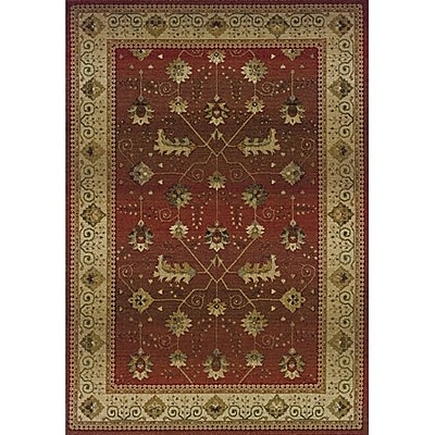 Charlton Home Devon Red/Beige Area Rug; Rectangle 9'9'' x 12'2''