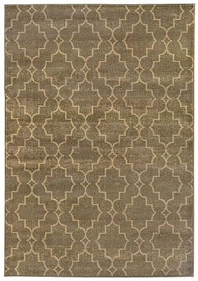 Charlton Home Dewolf Grey/Beige Area Rug; Rectangle 6'7'' x 9'6''
