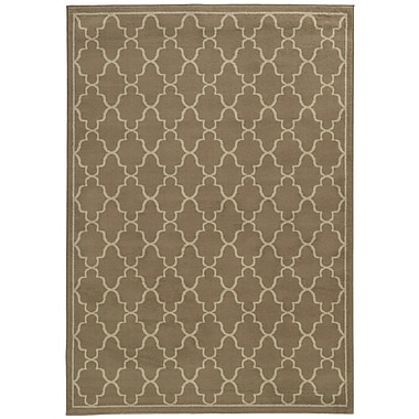 Charlton Home Delshire Grey/Beige Area Rug; 3'3'' x 5'5''
