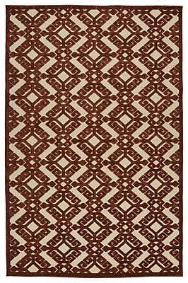 Charlton Home Covedale Terracotta Indoor/Outdoor Area Rug; 7'10'' x 10'8''