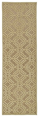 Charlton Home Covedale Machine woven Khaki Indoor/Outdoor Area Rug; 2'1'' x 4'