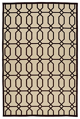 Charlton Home Covedale Brown/Cream Indoor/Outdoor Area Rug; 5' x 7'6''