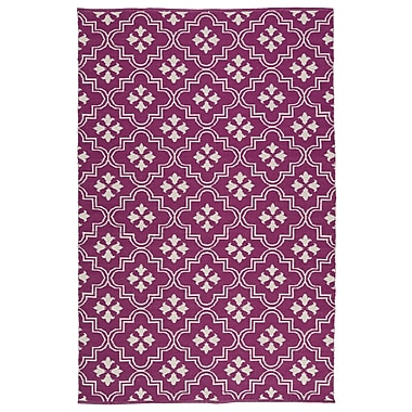 Charlton Home Covington Purple/Cream Indoor/Outdoor Area Rug; 2' x 3'