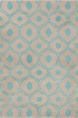 Corrigan Studio Willa Hand Tufted Wool Beige/Blue Area Rug