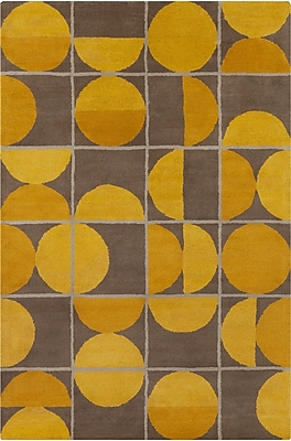 Corrigan Studio Willa Hand Tufted Wool Brown/Yellow Area Rug; 8' x 10'