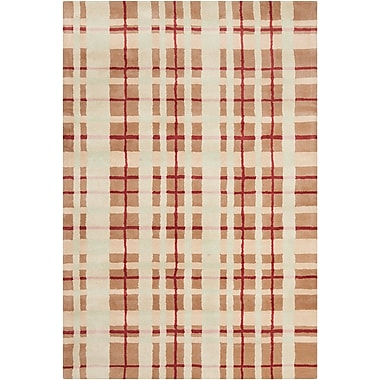 Corrigan Studio Willa Hand Tufted Wool Brown/Beige Area Rug; 8' x 10'