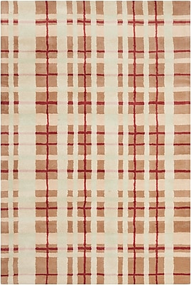 Corrigan Studio Willa Hand Tufted Wool Brown/Beige Area Rug; 5' x 7'6''