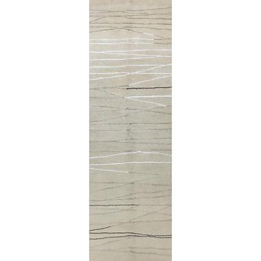 Corrigan Studio Suzette Hand-Tufted Ivory Area Rug; Runner 2'6'' x 8'