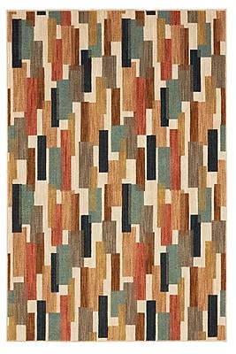 Corrigan Studio Evansville Festoon Red/Blue Area Rug; Rectangle 11' x 8'