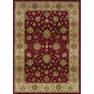 Charlton Home Devon Red/Beige Area Rug; Rectangle 2'3'' x 4'5''