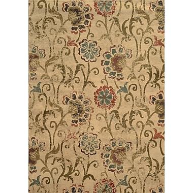 Charlton Home Dogwood Tan/Gray Area Rug; Rectangle 7'8'' x 10'10''