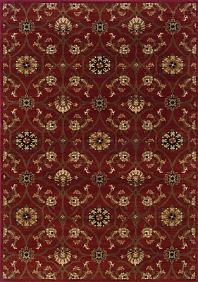 Charlton Home Dogwood Red/Brown Area Rug; Rectangle 7'8'' x 10'10''