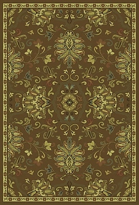 Charlton Home Dogwood Green/Beige Area Rug; Rectangle 6'7'' x 9'6''