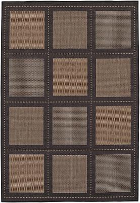 Charlton Home Westlund Cocoa Indoor/Outdoor Area Rug; Rectangle 7'6'' x 10'9''