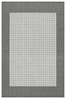 Charlton Home Westlund Checkered Field Beige Indoor/Outdoor Area Rug; Rectangle 2' x 3'7''