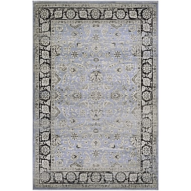 Charlton Home Connors Purple/Black Area Rug; Rectangle 2' x 3'7''