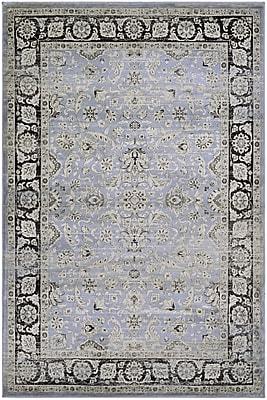 Charlton Home Connors Purple/Black Area Rug; Rectangle 7'10'' x 11'2''