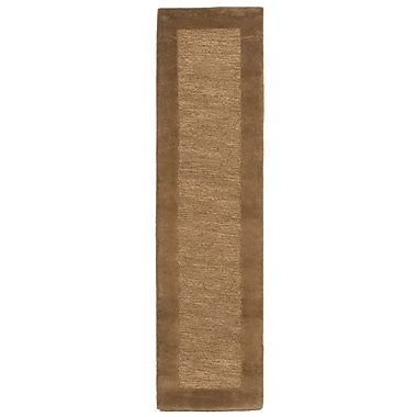 Charlton Home Dewsbury Brown Border Area Rug; Runner 2' x 8'