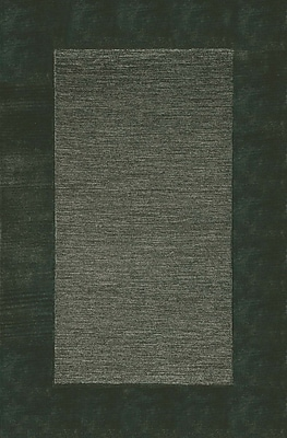 Charlton Home Dewsbury Charcoal Border Area Rug; 2' x 3'