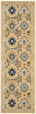 Charlton Home Pike Gold / Ivory Area Rug; Rectangle 8' x 10'